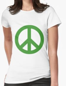 Peace - green. Womens Fitted T-Shirt