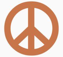 Peace - orange. by LewisJamesMuzzy