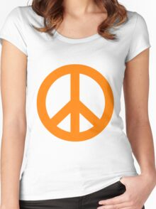 Peace - orange. Women's Fitted Scoop T-Shirt