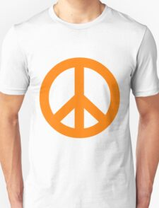 Peace - orange. Unisex T-Shirt