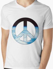 Peace - space. Mens V-Neck T-Shirt