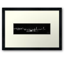 Boston in black and white Framed Print