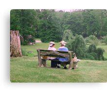 Re-enactors ar Ringwood Manor - Colonial women resting and chatting Metal Print