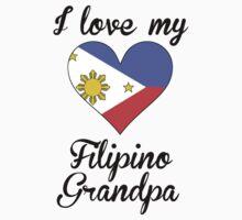 I Love My Filipino Grandpa Kids Tee