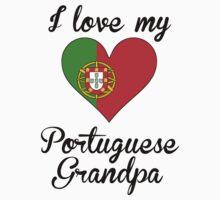 I Love My Portuguese Grandpa Kids Tee