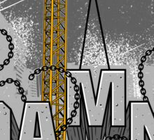 Tower Crane Damn Overload Sticker