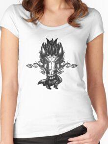 Demonic Equine - Black Women's Fitted Scoop T-Shirt