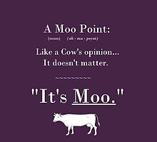 A Moo Point. Unisex T-Shirt