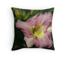 Peach of a Lily Throw Pillow