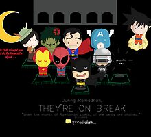 Ramadhan: Superheroes on a Break by SpreadSaIam