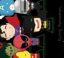 Ramadhan: Superheroes on a Break Sticker