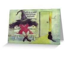 Broomstick Repairs Greeting Card