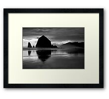 Sunset In Black & White Framed Print