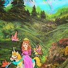 Fairy's Tell Wishes from original oil painting  by HomeTimeArt