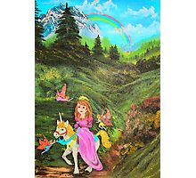 Fairy's Tell Wishes from original oil painting  Photographic Print