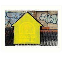 Faded Taco Bell Art Print