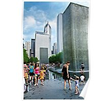 Fun at the Crown Fountain Poster
