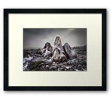 Rocks and Ice, Mt Wellington Framed Print
