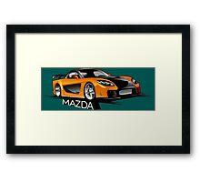 Mazda RX-7 Veilside Framed Print