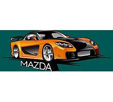 Mazda RX-7 Veilside Photographic Print