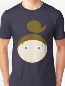 Brown Hair Blue Eyed Girl Unisex T-Shirt