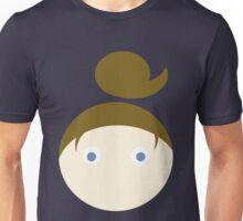 Brown Hair Blue Eyed Girl Unisex T-Shirt