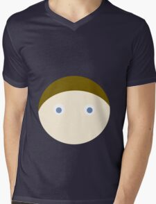 Brown Hair Blue Eyed Boy Mens V-Neck T-Shirt
