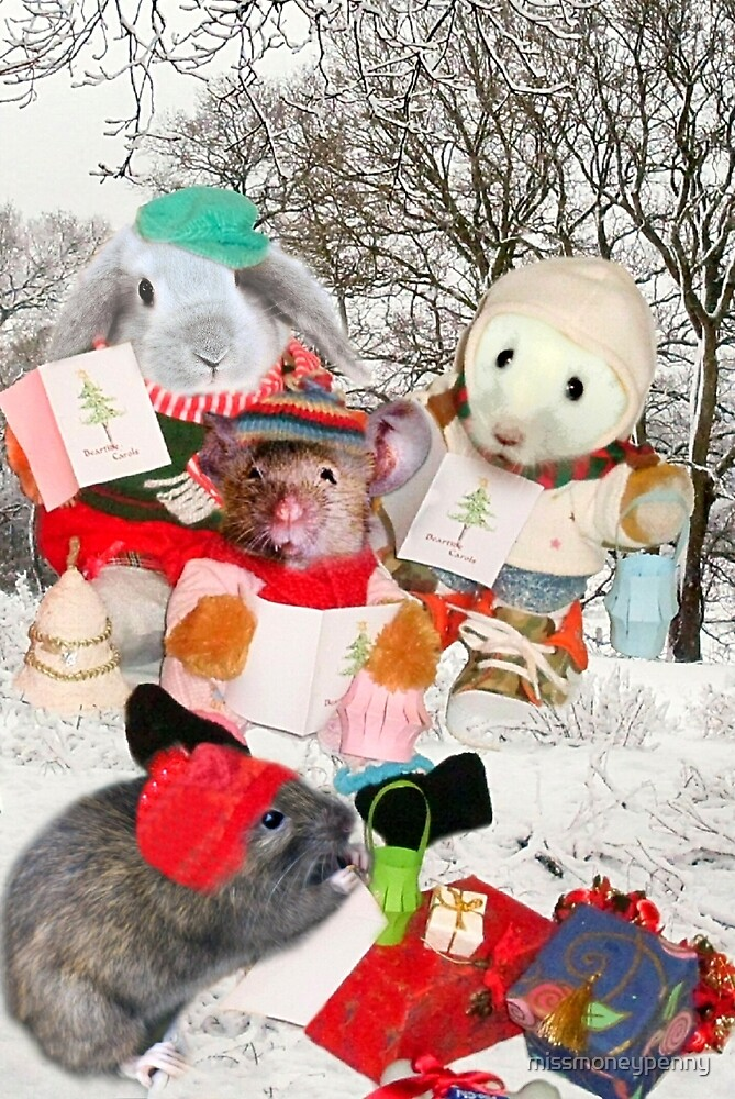 The Rodent Carol Singers by missmoneypenny