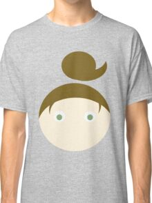 Brown Hair Green Eyed Girl Classic T-Shirt