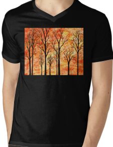 Abstract Woods Mens V-Neck T-Shirt