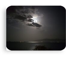 restful moonlight Canvas Print