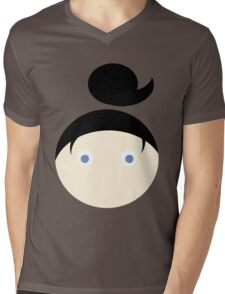 Black Hair Blue Eyed Girl Mens V-Neck T-Shirt