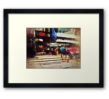 City crossroads Framed Print