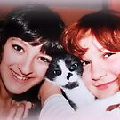 Lovely Daughters with kitten by ©The Creative  Minds
