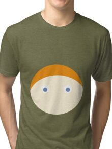 Red Hair Blue Eyed Boy Tri-blend T-Shirt