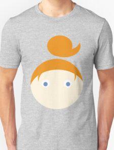 Red Hair Blue Eyed Girl Unisex T-Shirt
