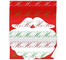 Ho Ho Ho Merry Christmas from Santa Poster