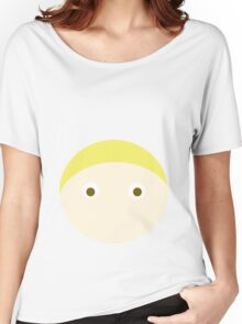 Blonde Hair Brown Eyed Boy Women's Relaxed Fit T-Shirt