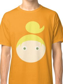 Blonde Hair Green Eyed Girl Classic T-Shirt
