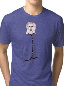 Knitted Lady #4 Tri-blend T-Shirt