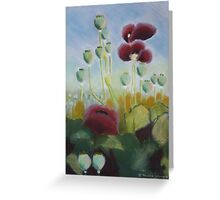 Poppies in pastels Greeting Card
