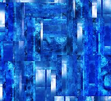 Abstract Composition / Abstract Lines in Blue by Ivana Redwine