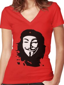 Che & V Women's Fitted V-Neck T-Shirt