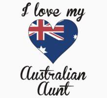 I Love My Australian Aunt Kids Tee