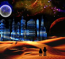 Phantom City on the 13th Moon of Gernia by Nadya Johnson