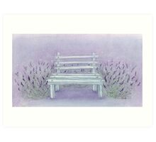 A seat in the lavender Art Print