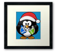 Here Comes Sant...A Penguin Framed Print