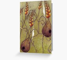 Wheat Houses Greeting Card
