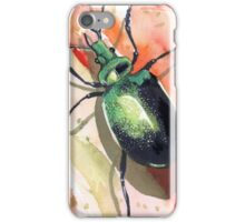 Green Carab Beetle iPhone Case/Skin