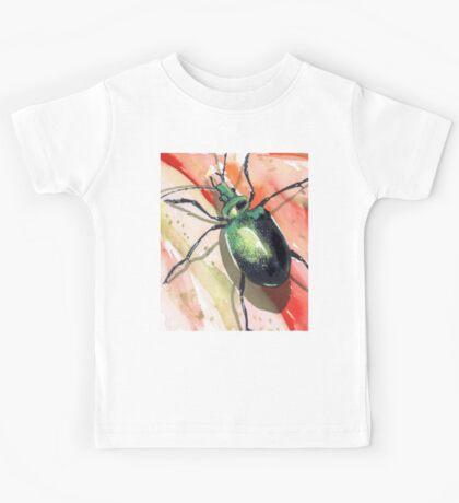 Green Carab Beetle Kids Tee